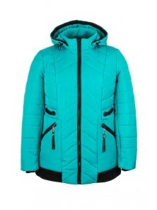 Демисезонная куртка «Норма», р-ры 50-58, №213 бирюза