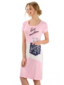 """Платье """"Симона"""", р-ры S-ХL, арт.294 розовый"""