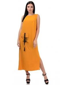 Платье «Денна», р-ры S-ХL, арт.415 горчица