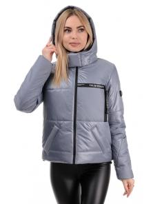 Демисезонная куртка «Меган», 42-48, арт.291 серый