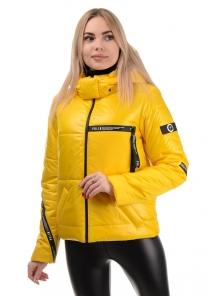 Демисезонная куртка «Меган», 42-48, арт.291 желтый