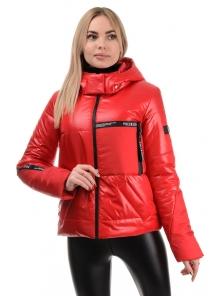 Демисезонная куртка «Меган», 42-48, арт.291 красный