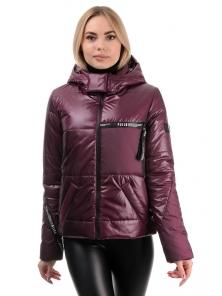 Демисезонная куртка «Меган», 42-48, арт.291 сангрия
