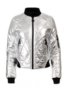 """Куртка-бомбер """"""""Райна"""", арт.№207, р-ры 42-48 серебро"""