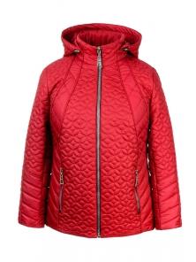 """Женская демисезонная куртка """"Кэйси"""" арт.№210, 50-58 красный"""