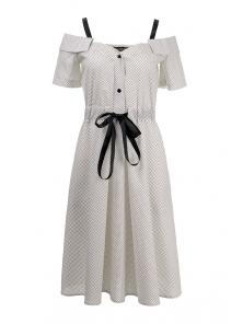 Платье «Марита», р-ры S-ХL, арт.420 белый
