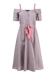 Платье «Марита», р-ры S-ХL, арт.420 серый