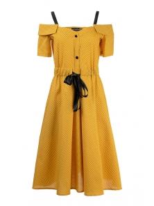 Платье «Марита», р-ры S-ХL, арт.420 горчица