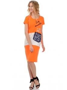 """Платье """"Симона"""", р-ры S-ХL, арт.294 оранжевый"""