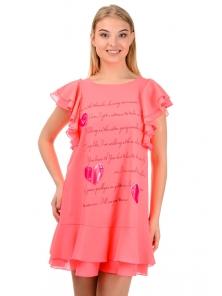 """Платье """"Крис """", р-ры S-L, арт.319 розовый"""