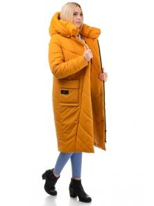 Пальто «Матильда», 44-50, арт.310 горчица