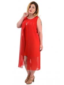"""Платье""""Лаура"""", р-ры XL-XXXL, арт.333 красный"""