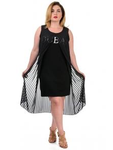 """Платье""""Лаура"""", р-ры XL-XXXL, арт.333 черный"""