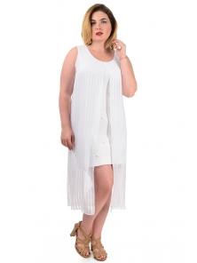"""Платье """"Ивона"""", р-ры ,XL-XXXL арт. 335 белый"""