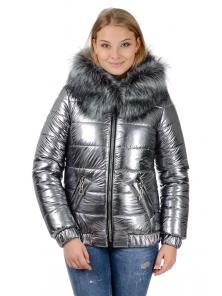 "Зимняя куртка ""Лолита"",арт.№192,44-50 серебро"