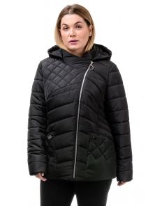 Демисезонная куртка «Тайра»,50-56, арт.252_черный