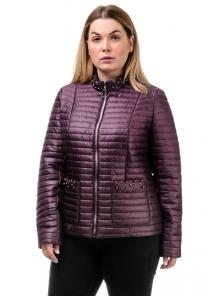 Демисезонная куртка «Вива», 50-56, арт.251_бордо