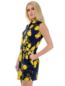 """Платье """"Медина"""", размеры S-L, арт.267 синий лимон"""