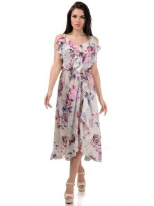 Платье «Рианна», р-ры S-L, арт.365 пион беж