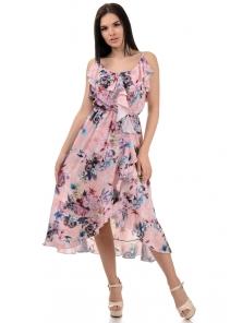 Платье «Рианна», р-ры S-L, арт.365 пион персик