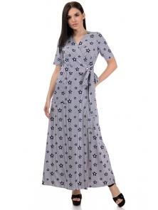 Платье «Лилия», р-ры S-L, арт.357 звезды белый