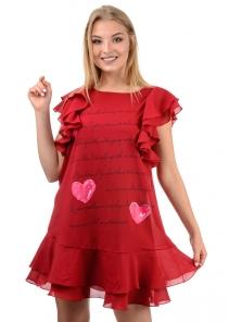 "Платье ""Крис "", р-ры S-L, арт.319 бордо"