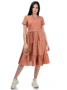 Платье «Соло», р-ры S-ХL, арт.437 карамель