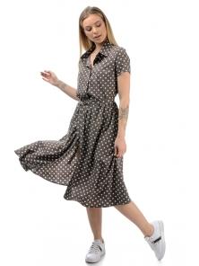 Платье «Риз», р-ры S-ХL, арт.438 мокко