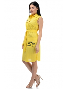 Платье «Йорк», р-ры S-ХL, арт.436 желтый