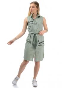 Платье «Йорк», р-ры S-ХL, арт.436 оливка