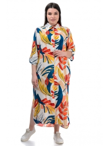 Платье «Малия», р-ры ХL-ХХХL, арт.441 белый