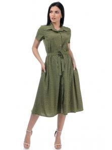Платье «Риз», р-ры S-ХL, арт.438 крапинка хаки