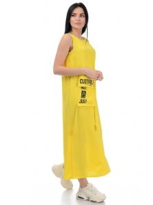 Платье «Дести», р-ры S-ХL, арт.442 желтый