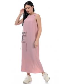 Платье «Дести», р-ры S-ХL, арт.442 пудра
