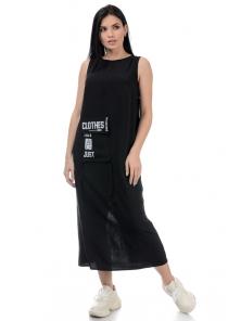 Платье «Дести», р-ры S-ХL, арт.442 черный