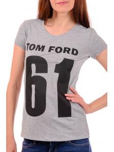 Футболка женская серая Tom Ford